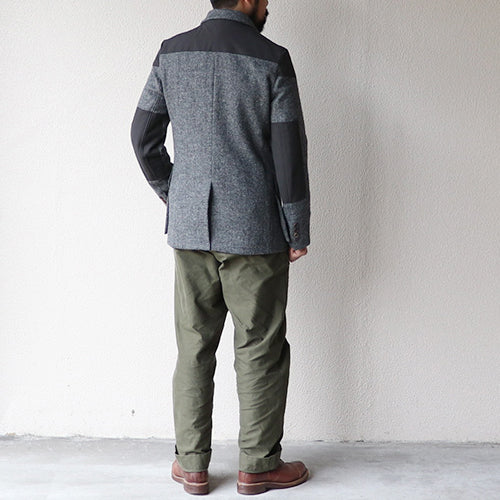 NIGEL CABOURNNigel Cabourn MALLORY JACKET HARRIS TWEED x VENTILE GRAY AUTHENTIC LINE