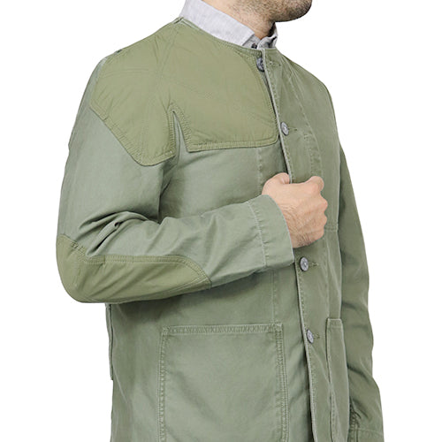 NIGEL CABOURN x LYBRONigel Cabourn x Livero PATCHED MILITARY JACKET GREEN