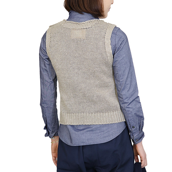 NIGEL CABOURN WOMANNigel Cabourn Woman AIRCRAFT VEST HANDLE EMBROIDERY BEIGE MAIN LINE