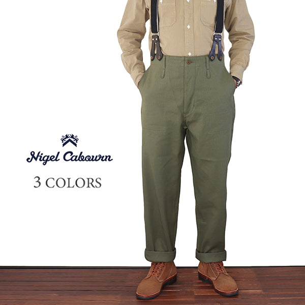 NIGEL CABOURNNigel Cabourn UTILITY PANT VINTAGE TWILL 3 COLORS MAIN LINE