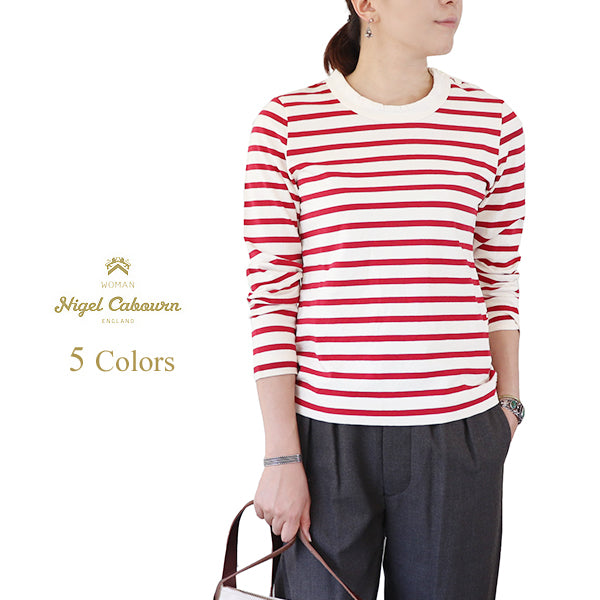 NIGEL CABOURN WOMAN <br>SAILOR T-SHIRT LONG SLEEVE <br>5 COLORS <br>MAIN LINE <br>