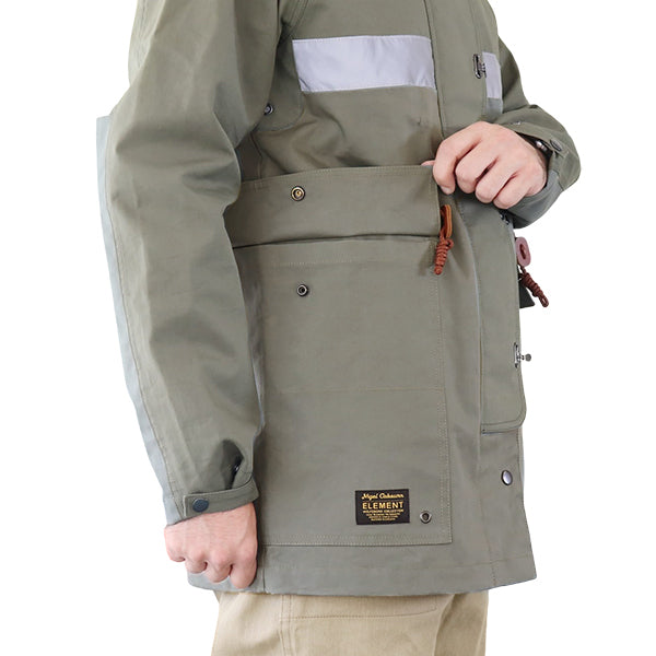 NIGEL CABOURN × ELEMENT <br>ナイジェル・ケーボン × エレメント <br>THE BIRCHMONT CAMERAMAN PARKA <br>GREEN <br>