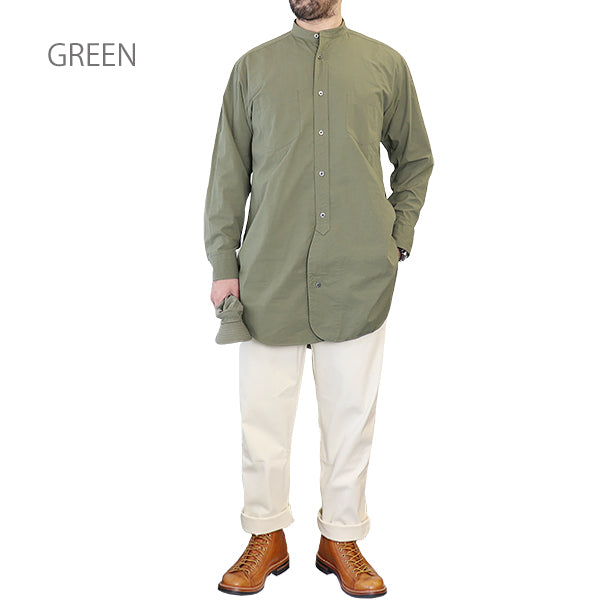 NIGEL CABOURNNigel Cabourn STAND COLLAR SHIRT HIGH DENSITY TWILL 3 COLORS MAIN LINE