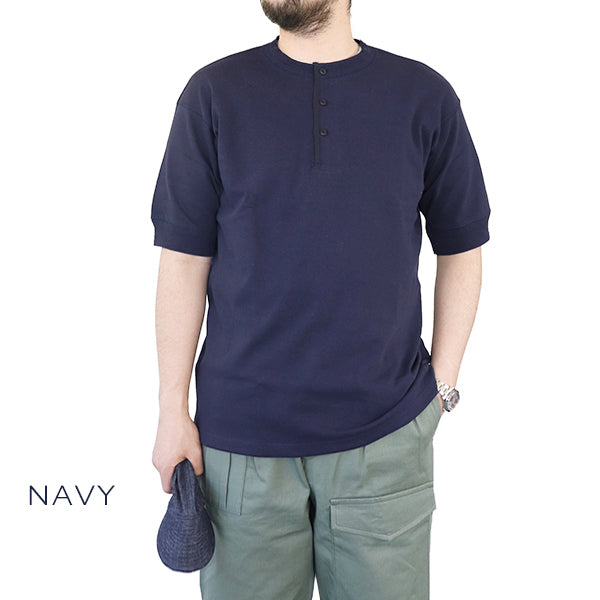 NIGEL CABOURN 1940s WORK HENLEY NECK T-SHIRT SHORT SLEEVE 4 COLORS MAIN LINE
