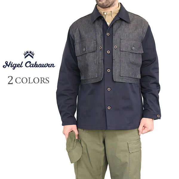 NIGEL CABOURN <br>ナイジェル・ケーボン <br>ARMY JACKET <BR>COTTON LINEN × COTTON HERRINGBONE <BR>2 COLORS <br>MAIN LINE <BR>