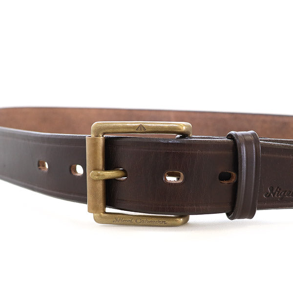 NIGEL CABOURNNigel Cabourn 1940s ARMY BELT HORWEEN LEATHER CHROMEXCEL BROWN MAIN LINE