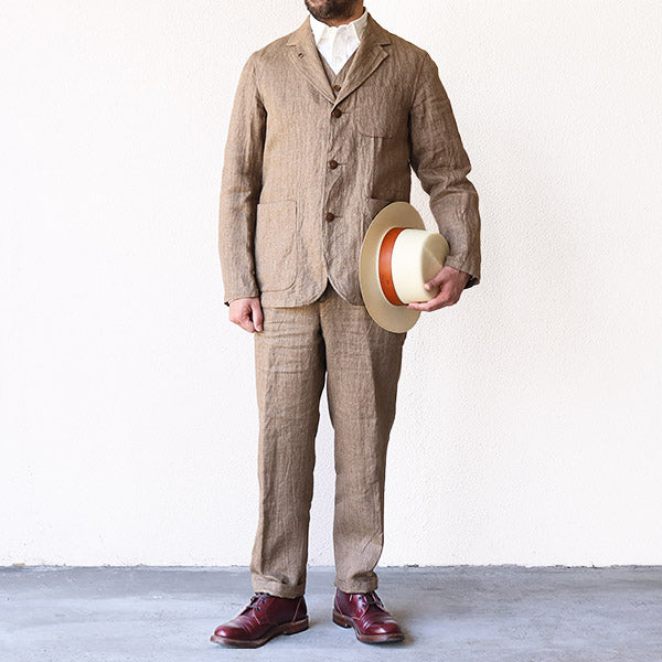 NIGEL CABOURN HOSPITAL JACKET LINEN CHAMBRAY 2 COLORS MAIN LINE