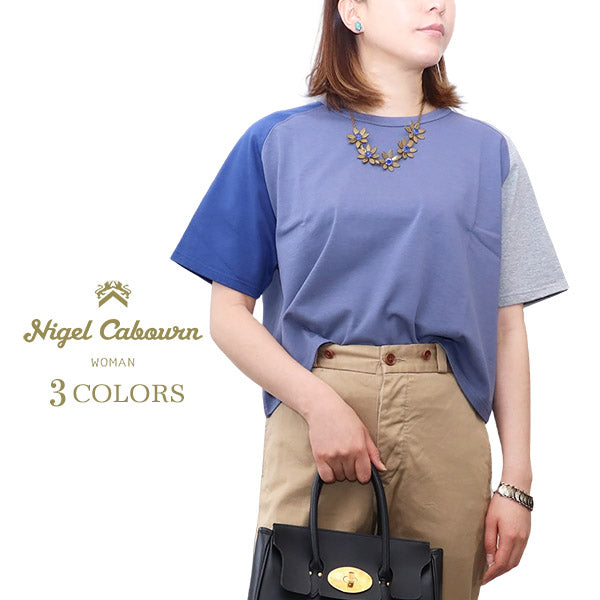 NIGEL CABOURN WOMANNigel Cabourn Woman COLOR MIX BIG T-SHIRT SHORT SLEEVE 3 COLORS MAIN LINEShort sleeve big silhouette Tee