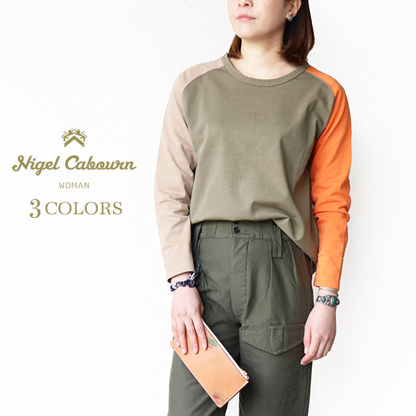 NIGEL CABOURN WOMANNigel Cabourn Woman COLOR MIX T-SHIRT LONG SLEEVE 3 COLORS MAIN LINELong sleeve Tee