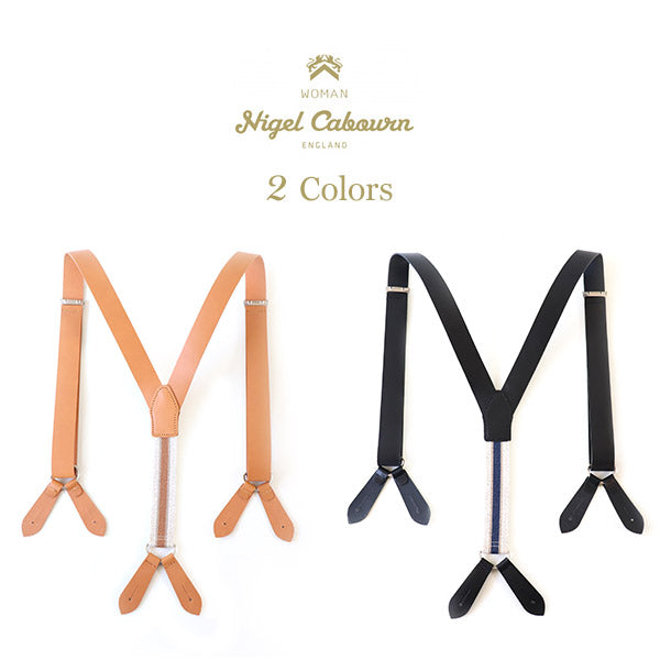 NIGEL CABOURN WOMAN SUSPENDER LEATHER 2 COLORS MAIN LINE