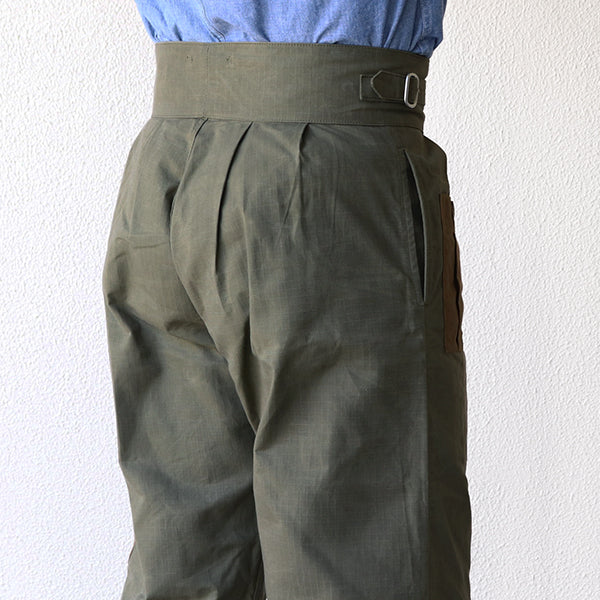 NIGEL CABOURN ARMY BUCKLE PANT HALLEY STEVENSON R200 RIPSTOP 2 COLORS AUTHENTIC LINE