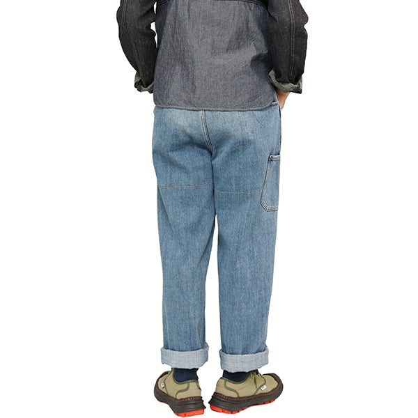 NIGEL CABOURN × LYBRO <br>CLIMBING JEAN HEAVY WASH <BR>LIGHT BLUE <br>