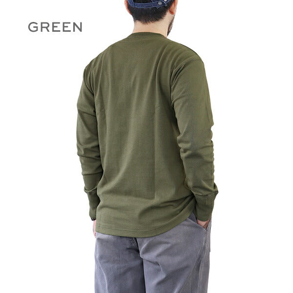 NIGEL CABOURN <BR>1940s WORK HENLEY NECK LONG SLEEVE <br>3 COLORS <br>MAIN LINE <br>長袖Tee <BR>