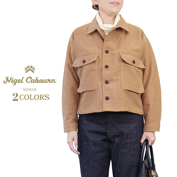NIGEL CABOURN WOMAN <br>U.S. ARMY SHIRT COTTON SUEDE <BR>2 COLORS <br>MAIN LINE <br>