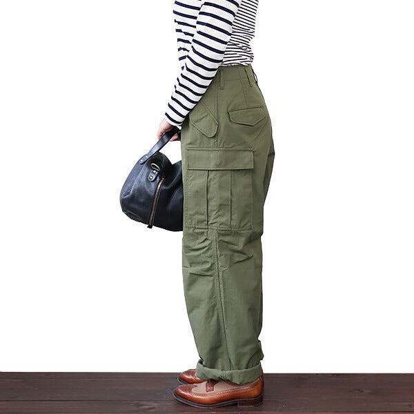 NIGEL CABOURN WOMAN <br>ナイジェル・ケーボン ウーマン <br>WIDE B-51 PANT <br>DARK GREEN <BR>MAIN LINE <br>