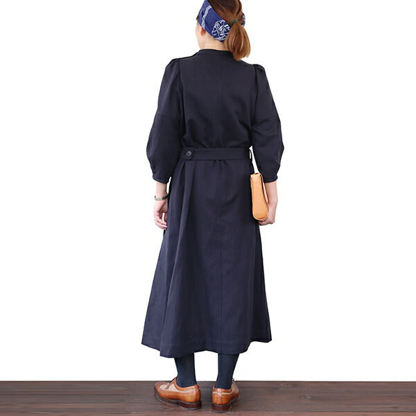 NIGEL CABOURN WOMANNigel Cabourn Woman GATHERED SLEEVE DRESS COTTON LINEN TWILL 2 COLORS MAIN LINE