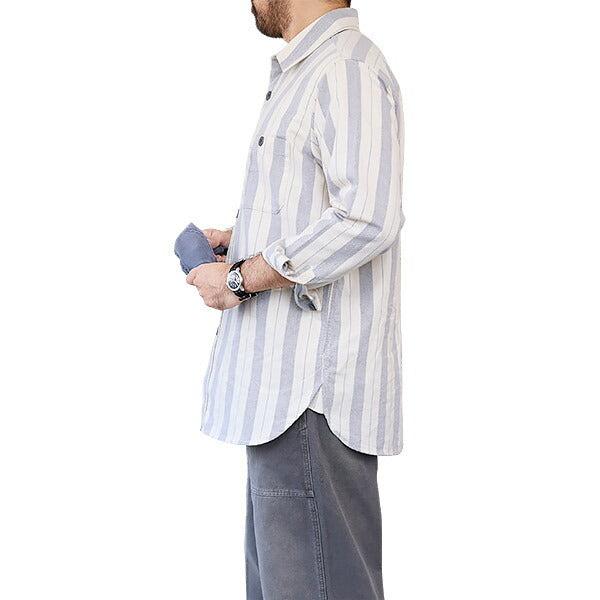 NIGEL CABOURN × LYBRO <BR>ARCTIC SHIRT <br>COTTON STRIPE<br>2 COLORS <br>
