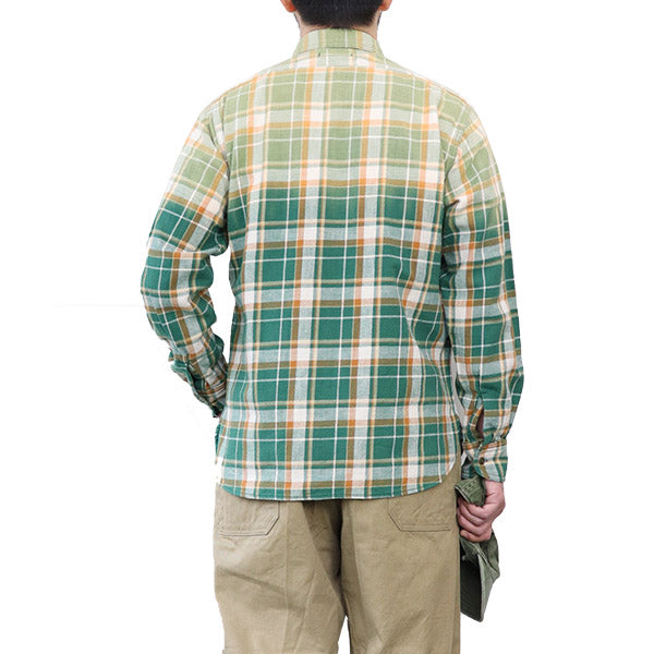 NIGEL CABOURN MOTORCYCLE SHIRT OZONE BLEACH 2 COLORS MAIN LINE