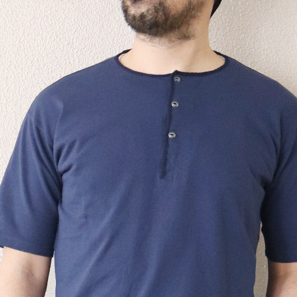 NIGEL CABOURN 1950s HENLEY NECK T-SHIRT 5 COLORS MAIN LINE
