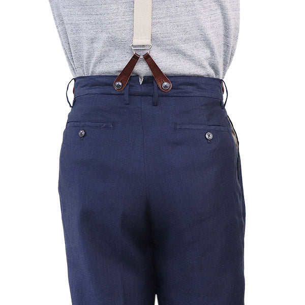 NIGEL CABOURN (SIZE: W30-W36) OFFICERS PANT LINEN TWILL 2 COLORS MAIN LINE