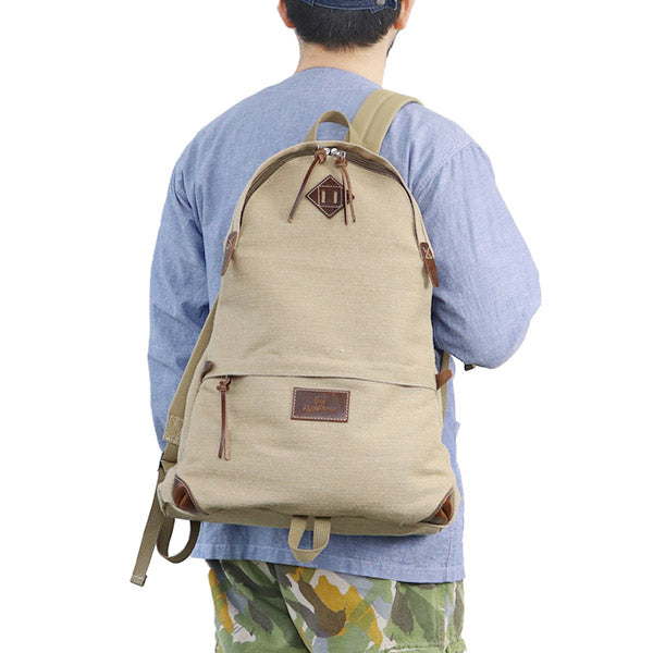 NIGEL CABOURN DAY PACK PEAT LABEL BEIGE MAIN LINE