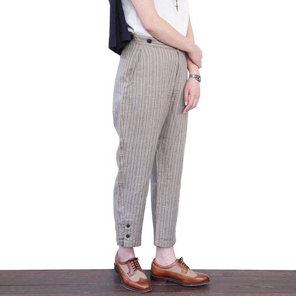 NIGEL CABOURN WOMAN MOTORCYCLE PANT LINEN 2 COLORS MAIN LINE