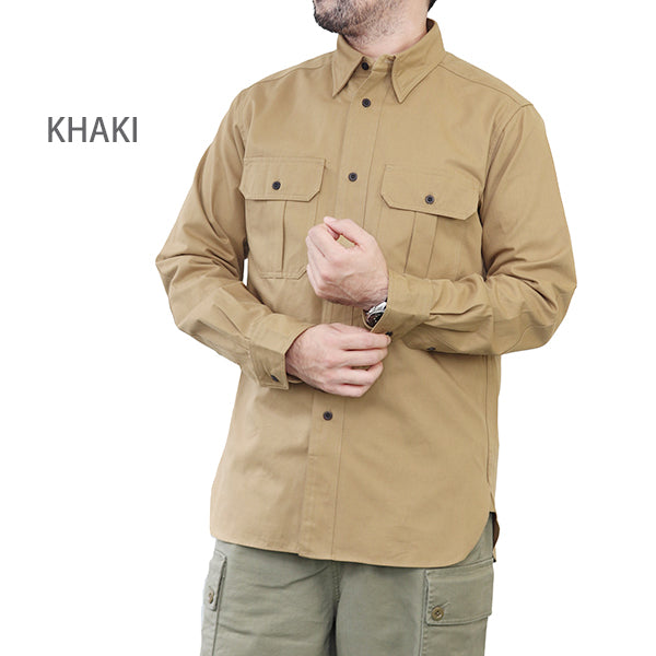NIGEL CABOURN BRITISH ARMY UTILITY SHIRT COTTON TWILL 2 COLORS MAIN LINE
