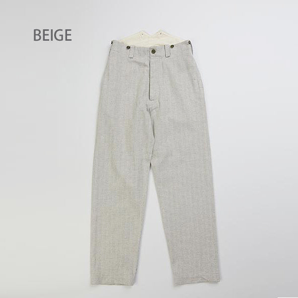 NIGEL CABOURN WOMAN FRENCH WORK PANT ECO TWEED 2 COLORS MAIN LINE