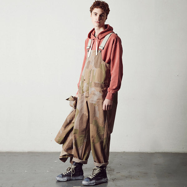 NIGEL CABOURN x LYBRO FACTORY DUNGAREE CAMOUFLAGE GREEN