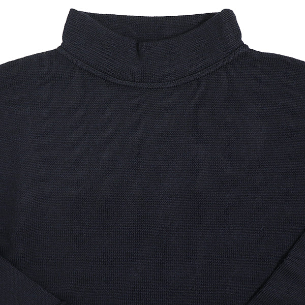 EASTMAN LEATHER CLOTHING U.S. NAVY SEAMANS SWEATER NAVY MADE IN UK