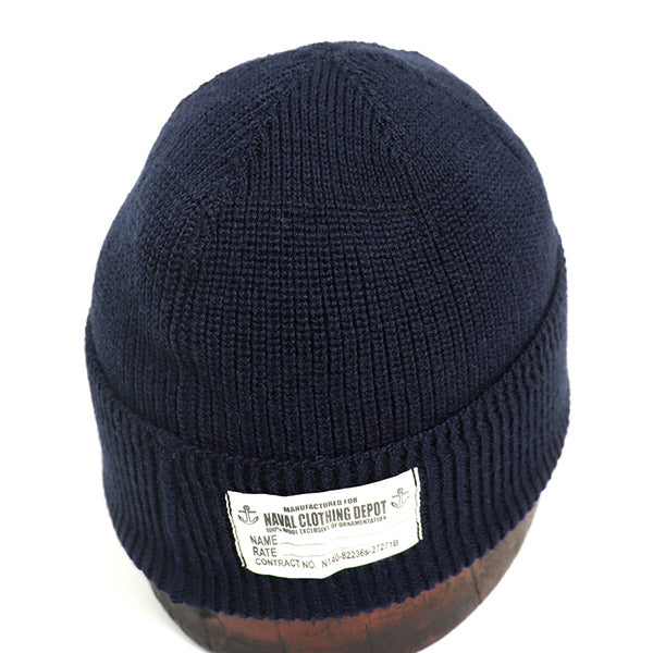 EASTMAN LEATHER CLOTHING U.S. NAVY WATCH CAP NAVY MADE IN JAPAN