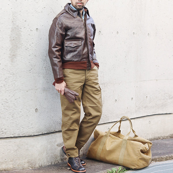 EASTMAN LEATHER CLOTHING TYPE A-2 ROUGH WEAR CONTRACT 27752 HORSE HIDE SEAL BROWN MADE IN UK FLIGHT JACKET
