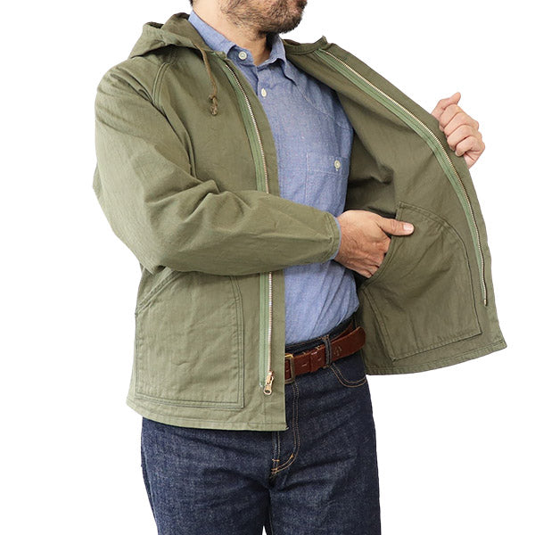 EASTMAN LEATHER CLOTHING COMBAT PARKA SPECIAL FORCES OLIVE HERRINGBONE TWILL MADE IN JAPAN