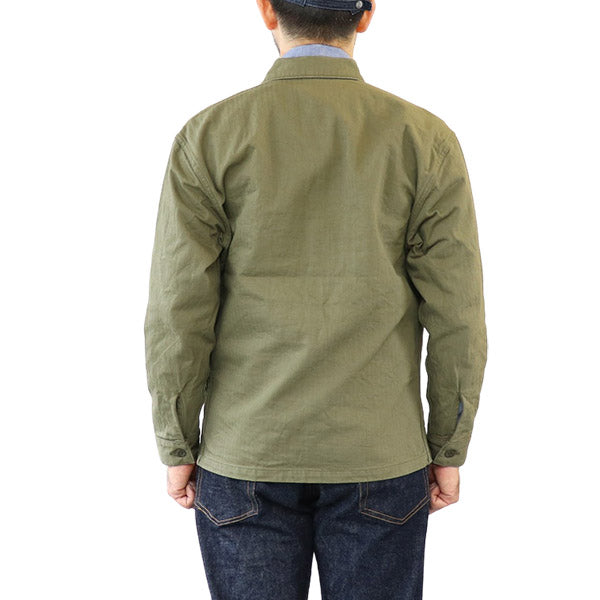 EASTMAN LEATHER CLOTHING <br>イーストマン・レザー・クロージング <br>USMC SHIRT P-53 <BR>OLIVE HERRINGBONE TWILL <BR>MADE IN JAPAN <BR>