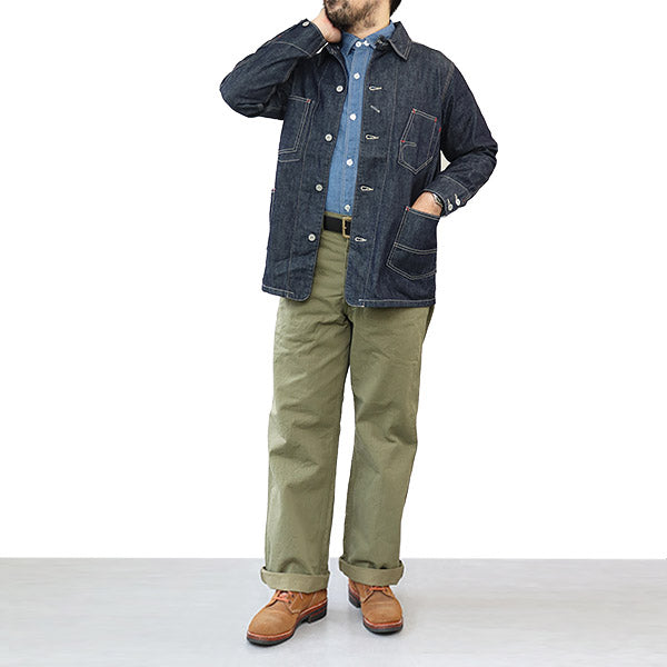 EASTMAN LEATHER CLOTHING OKINAWA PANTS SPECIAL FORCES OLIVE HERRINGBONE TWILL MADE IN JAPAN