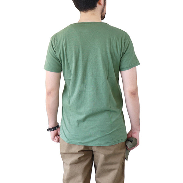 EASTMAN LEATHER CLOTHING T-SHIRT USMC GREEN MADE IN JAPAN