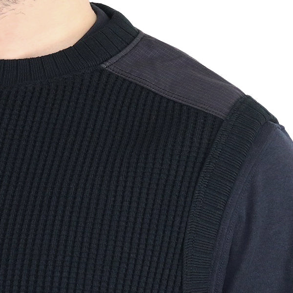 JACKMAN WAFFLE ARMORED VEST BLACK MADE IN JAPAN
