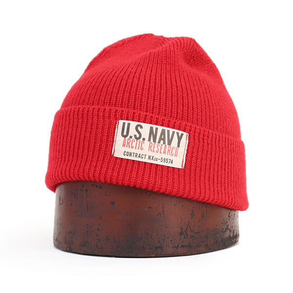 PAPA NUI ARCTIC RESEARCH WATCH CAP RED MADE IN JAPAN