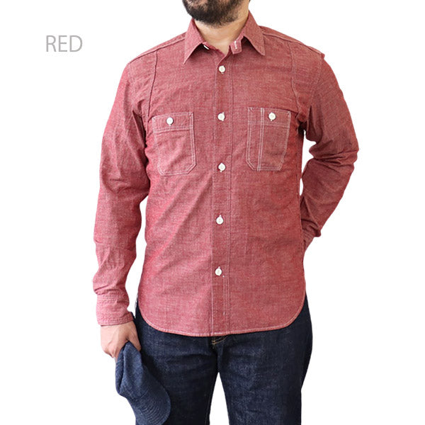 THE RITE STUFF HERACLES WORK SHIRT 1910s STYLE WORK SHIRT SELVEDGE CHAMBRAY 3 COLORS MADE IN JAPAN