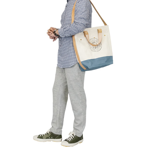 THE SUPERIOR LABOR <br>シュペリオールレイバー <br>CANVAS 2 WAY BAG <br>BLUE GRAY<BR>