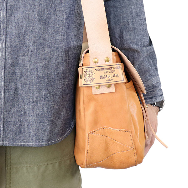 THE SUPERIOR LABOR <br>シュペリオール レイバー <BR>HORSE LEATHER HUNTING BAG <br>NATURAL <BR>MADE IN JAPAN <BR>