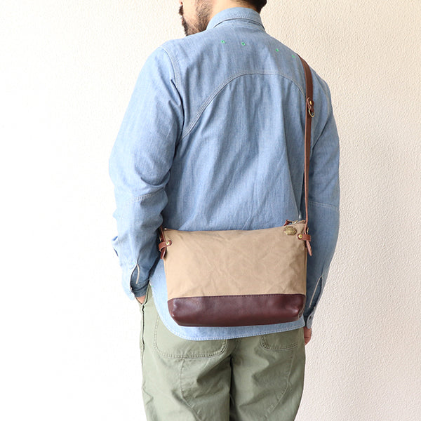 THE SUPERIOR LABORSuperior Labor LEATHER BOTTOM SHOULDER BAG LARGE SIZE 3 COLORS MADE IN JAPAN