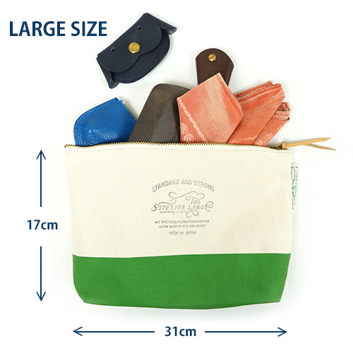 THE SUPERIOR LABOR ENGINEER CANVAS POUCH # 03 MEDIUM SIZE MADE IN JAPAN