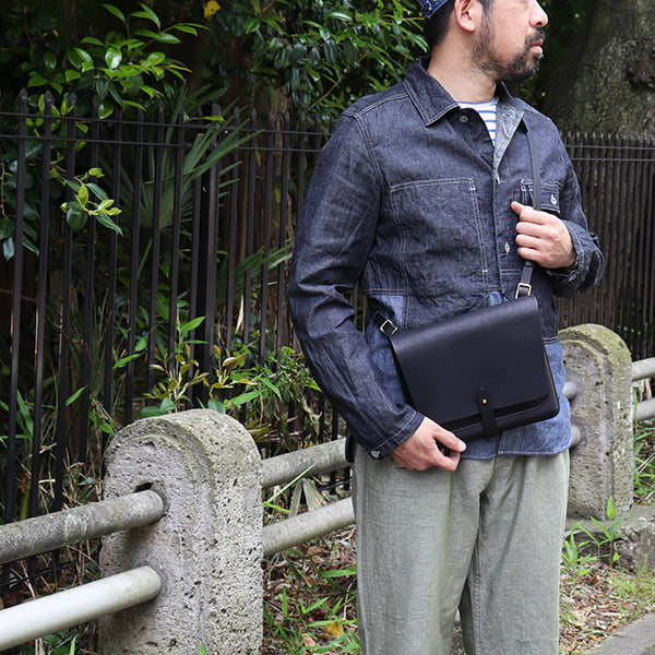 THE SUPERIOR LABOR MAP CASE LEATHER SHOULDER BAG 2 COLORS MADE IN JAPAN