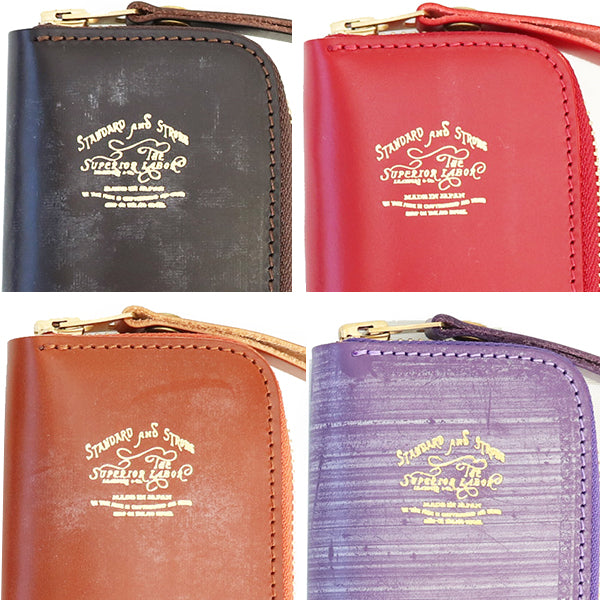 THE SUPERIOR LABOR LEATHER ZIP KEY CASE BRIDLE LEATHER MADE IN JAPAN