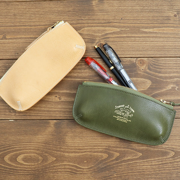 THE SUPERIOR LABOR PEN CASE ITALIAN LEATHER MADE IN JAPANpencil case