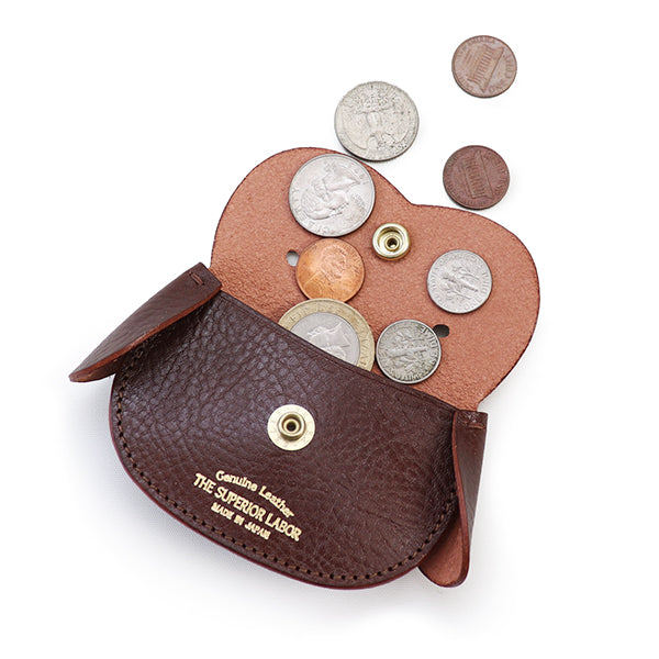 THE SUPERIOR LABOR DOG COIN CASE ITALIAN OIL LEATHER MADE IN JAPAN