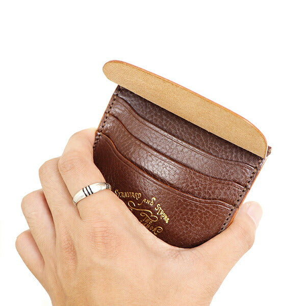 THE SUPERIOR LABOR SMART CARD CASE ITALIAN LEATHER MADE IN JAPANcard case