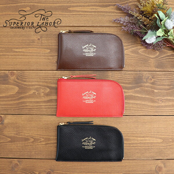 [Reserved items scheduled to arrive in October 2021] THE SUPERIOR LABOR L ZIP PURSE ITALIAN LEATHER MADE IN JAPAN