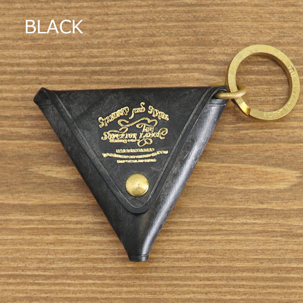 THE SUPERIOR LABOR TRIANGLE COIN KEY CASE TRADITIONAL BRIDLE LEATHER 2 COLORS MADE IN JAPAN